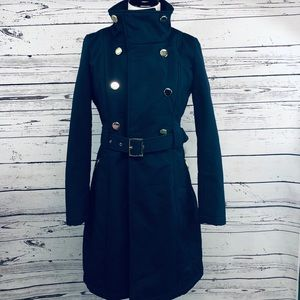 Guess Coat Jacket Size Small Navy Blue